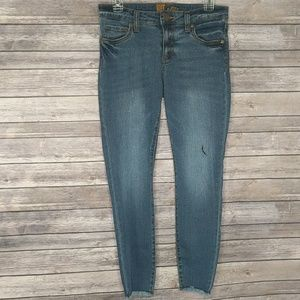 Kut From the Cloth Cropped Distressed Denim Size 4